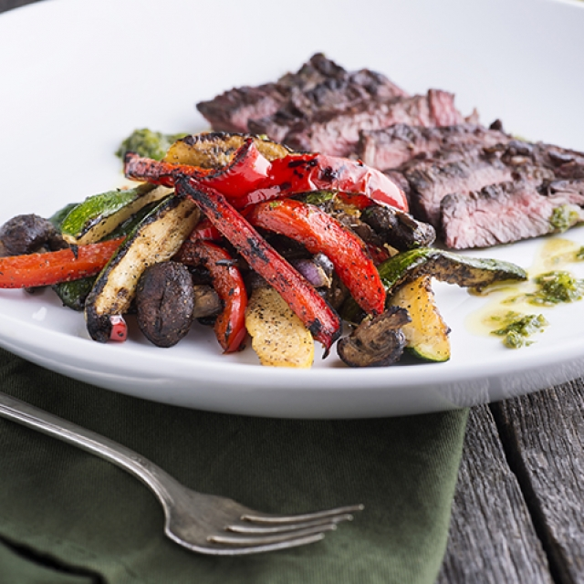 Skirt Steak and Fajita Style Veggies